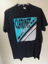 Vintage 1987 Music Treasures Clairnet Printed T-Shirt Men XL USA Screen Stars