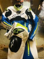 motorbike leather gear riding suit race suit leather suit for bikers all size
