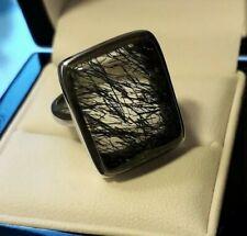 925 Serling Silver Rutilated Quartz Ring UK Ring Size N