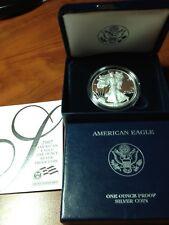 2007 PROOF AMERICAN SILVER EAGLE COIN - BOX & COA - DEEP CAMEO AC