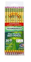 Ticonderoga Wood-Cased Graphite Pencils, #2 HB Soft, Pre-Sharpened,Yellow, 30ct.