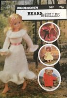 Knitting Pattern Booklet For Dolls  Teddies Clothes  Different Sizes