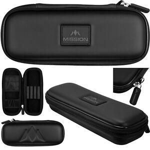 Mission Freedom Slim Darts Case - Black. Holds Fully Assembled Darts.