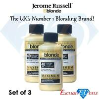 3 x Jerome Russell BBlonde Cream Peroxide 75ml Light to Dark Brown Hair 40vol
