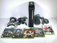 Xbox 360 Elite Console Mega Bundle 120GB HDD With 5 Games Controller and Cables