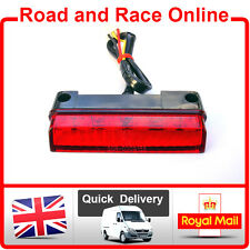 CRF Style LED Rear Light Stop Tail Light Small Red Lens Enduro MX Supermoto