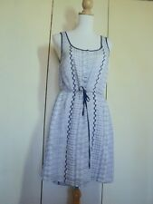 just jeans embroidered indigo blue white dress worn once.