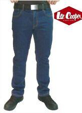 Rebajado Lee Cooper 218 Azul Denim Elástico Vaqueros Trabajo Corte Clásico