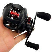 Ultralight Smooth Baitcasting Reel Bass Fishing 17.6lb Max Drag 8.1:1 High Speed