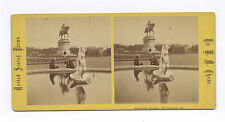 1870's ETHER FOUNTAIN MEMORIAL BY W. M. CHASE, BALTIMORE, MD. STEREOVIEW