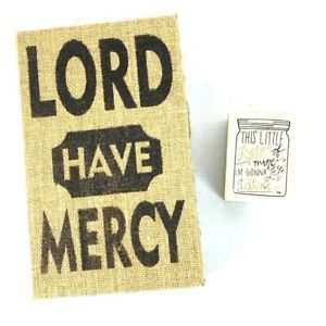Burlap Lord Have Mercy Religious Decor Small Sign Wall Hanging Light of Mine