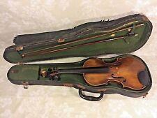 Vintage Stradivarius Model Violin Germany w/ Case & 2 Violin Bows 1 Japan