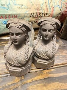 French Vintage Alsace Andirons