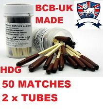 BRITISH ARMY NATO 2X TUBES BCB STORMPROOF WATERPROOF MATCHES SURVIVAL LIFE RAFT