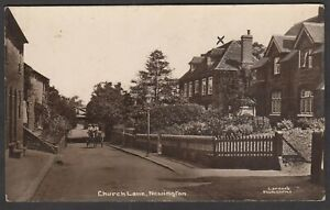 Postcard Newington nr Abingdon early view of Church Lane RP by Larner