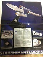 Vintage Star Trek 23x16.5 Poster USS Enterprise RARE Starship Advertising Poster