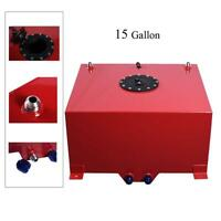 15 Gallon Universal Aluminum Racing/Drift Fuel Cell Tank and Level Sender Red