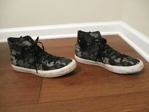 Used Sz 10 Fit Like 10.5-11 Converse Chuck Taylor All Star Hi II Shoes Camo