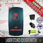 Laser Etched Rocker Switch Air Compressor 12V 24V RED LED Carling Style ON OFF