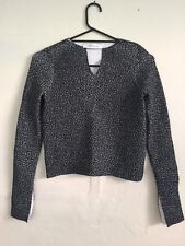 Scanlan Theodore Cropped Plaid Knit Top RRP$650