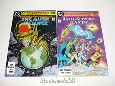 Invasion! Book #1 & 2 Comic Lot DC 1988 Justice League Giffen Todd McFarlane 80