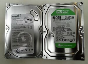 "2x Job Lot Of Various Models 500GB SATA 3.5"" Desktop PC Hard Drive HDD"
