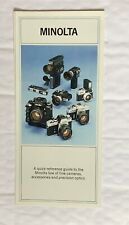 Minolta General Fold Out Brochure, 8 x 4 in