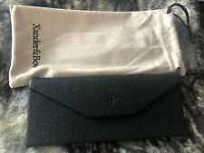 Xander & Bow Black Faux Leather Foldable glasses Case With Drawstring Pouch
