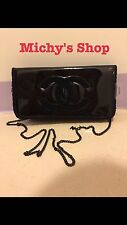 Chanel VIP GIFT COSMETIC MAKEUP Cross Shoulder Bag BEAUTE Black With Chain