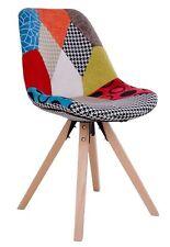 2 x Designer Chaise Sam en patchwork MONOCOQUE de salle à manger