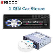 Single 1 Din Car Dvd Cd Audio Stereo Radio Mp3 Player Usb/Aux/Sd Fm Bt In-dash