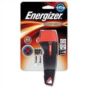 ENERGIZER IMPACT LED NON-SLIP RUBBER TORCH - INCLUDES X2 AA BATTERIES S5506