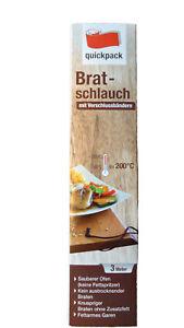 Bratschlauch+Verschlußclips,Braten,Backofen-Beutel,garen,kein Grill - Bratbeutel