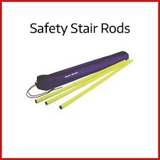 Safety Stair Rods | 14 Telescopic Spring Loaded Rods in Carry Case | Dust Sheet