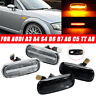 Pair LED Side Marker Turn Signal Light Indicator Amber Lamp For Audi A4 TT A6 A8