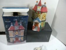 Christmas Village Porcelain Lighted House-Holiday Expressions Collins restaurant
