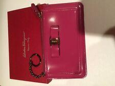 Salvatore Ferragamo Women Leather Wallet.KEY COIN CASH Black Tone chain