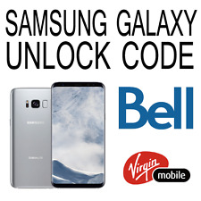 Bell Virgin Samsung Unlock Code Galaxy S8 S8+ S7 S6 Edge S5 neo A5 J7 Note 5 4