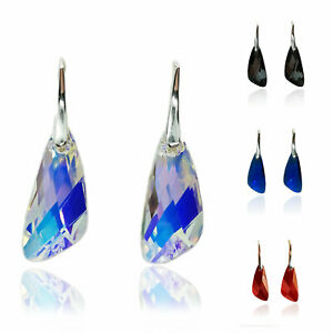 Silver earrings with Swarovski wing crystals, Multiple colors, Silver (925) earr