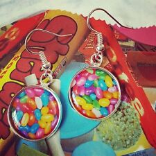 Unique! Handmade JELLY BEAN EARRINGS mixed up dolly JELLY BELLY candy CUTE sweet