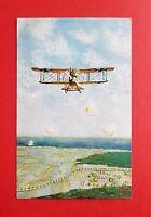 Künstler AK um 1916 Flugzeug Doppeldecker     ( 39469