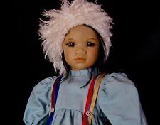 """25"""" Annette Himstedt Lifelike """"Kima"""" Adorable Inuit Doll """"Eskimo"""" Boxed COA 1993"""