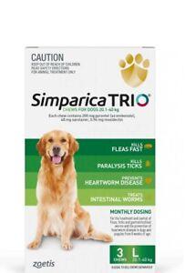 Simparica TRIO Chews For Large Dogs 20.1-40kg 3pk