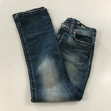 Miss Me Women's Size 27 Boot Fit Denim Blue Jeans Signature Rise JE1304BR