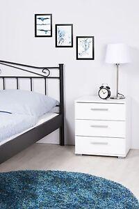 Nachtkommode Nachttisch - MAGIC - Nachtkonsole Nako Bettkommode in Weiß