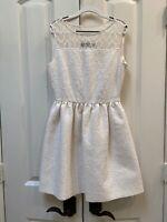 Zara Woman Dress Cream Winter White Textured Sleeveless XS