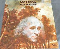 LEO FERRE -AVEC LE TEMPS- FRENCH LP CHANSON