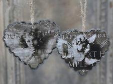 * Chic Antique Set aus 2 Anhänger Herz Engel Christbaumschmuck Landhaus Shabby