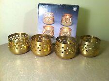 Himark Vintage Holiday 4 Piece Brass Candle Holder Set