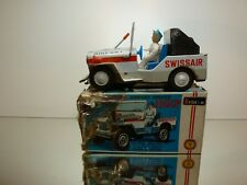 ICHIKO TIN TOY WILLY's JEEP - SWISSAIR AIRPORT - L20.0cm RARE - GOOD IN BOX